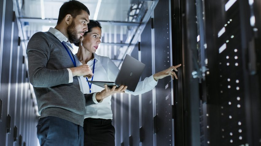 IT Techs in Server Room